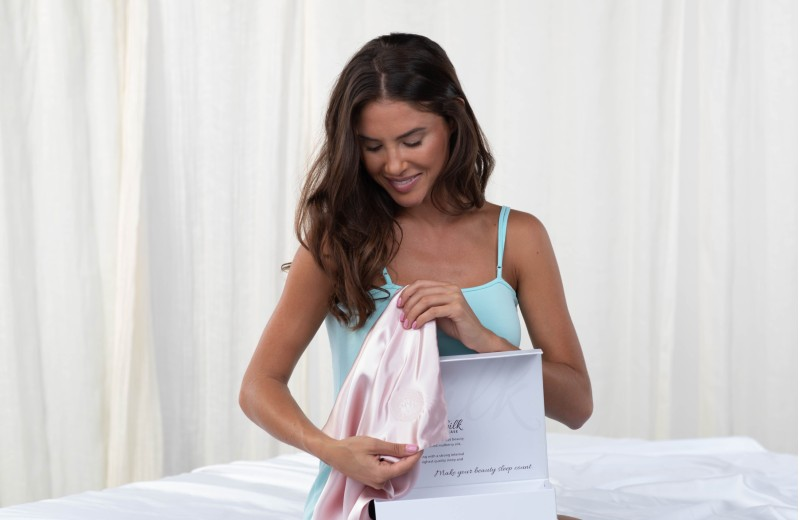 Experience the GhostBed Silk Pillowcase for hair, skin and other beauty benefits