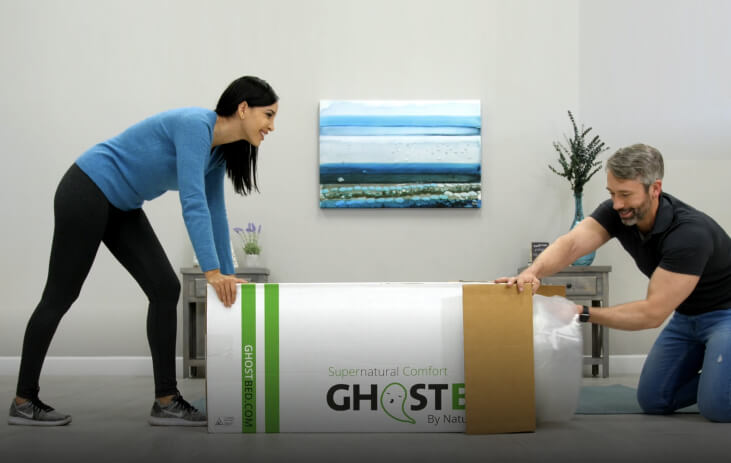 Unboxing your GhostBed Luxe Mattress